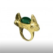 GREEN PARLOUS CHAMELEON RING
