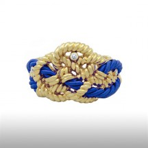 Blue Beauteous Cord Bangle