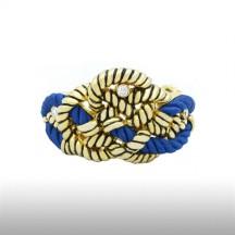 Blue Stripe Beauteous Cord Bangle