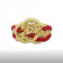 Red Beauteous Cord Bangle