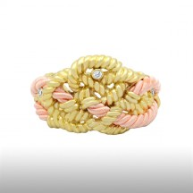 Pink Beauteous Cord Bangle