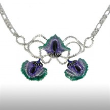 Silver Felicitous Peacock Necklace