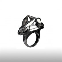 Crystal Robin Goodfellow Ring