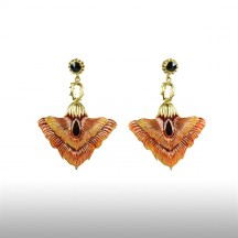 Orange Felicitous Peacock Earrings