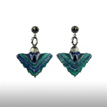 Green Felicitous Peacock Earrings