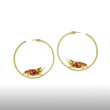 Gold Girdle Round The Earth Earrings