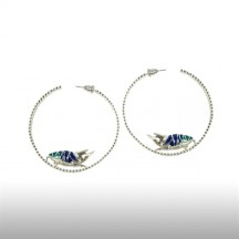 Silver Girdle Round The Earth Earrings